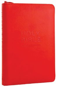 NIV Pocket Bible Red Soft-Tone With Zip