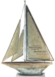 Sailboat Metal: We Cannot Direct the Wind Bertha Calloway (Cream)