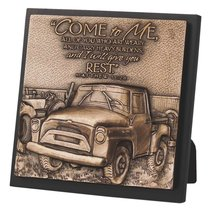 Moments of Faith Sculpture Plaque: Come to Me, Matthew 11:28, Truck