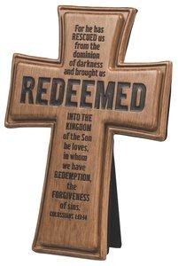 Cross: Wood Look Cast Stone: Redeemed