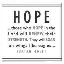 Black and White Series Magnet: Hope