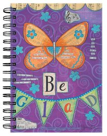 Spiral Journal: Be Glad Butterfly Purple