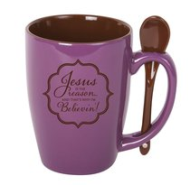 Mug and Spoon: Jesus is the Reason and Thats Why Im Believin!, Purple