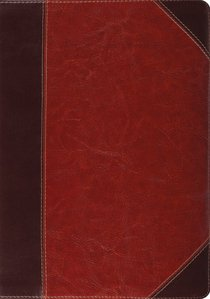 ESV Study Bible Trutone Brown/Cordovan Portfolio Design (Black Letter Edition)