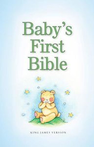 KJV Babys First Bible Pale Blue (Red Letter Edition)