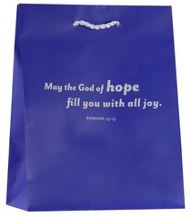Value Gift Bag Medium: Blue (Romans 15:13)