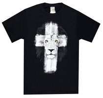 T-Shirt Lion Cross: Fear Not, Black Medium