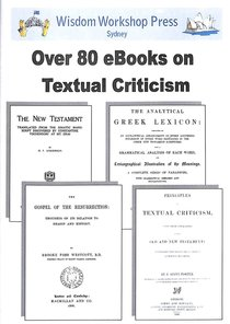 Wisdom Workshop: Over 80 Books on Textual Criticism (Cd-rom)