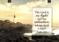 Windows Easeled Glass Plaque: The Lord is My Light (Psalm 27:1)