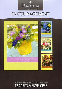 Boxed Cards Encouragement: Bright Blossoms