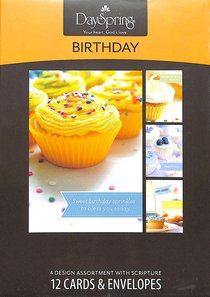 Boxed Cards Birthday: Cupcakes