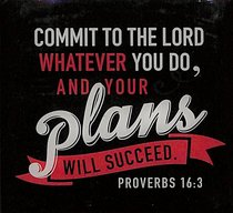 Meaningful Magnet: Your Plans Will Succeed (Proverbs 16:3)