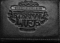 Mens Genuine Leather Wallet: Eternal Life