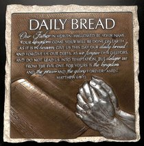 Moments of Faith Stone Sculpture Plaque: Daily Bread, Matthew 6:9-13
