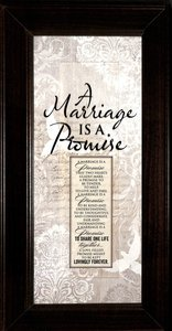 Words of Grace Plaque: A Marriage is a Promise