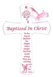 Baptism Cross: Pink