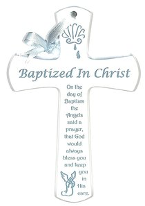 Baptism Cross: Blue