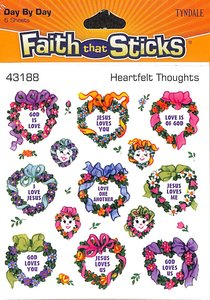 Heartfelt Thoughts (6 Sheets, 78 Stickers) (Stickers Faith That Sticks Series)
