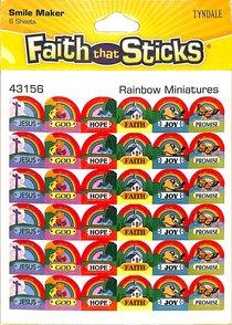 Rainbow Miniatures (6 Sheets) (Stickers Faith That Sticks Series)
