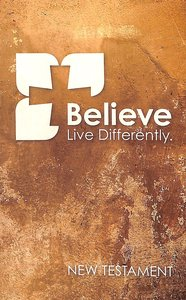 NIV Popular Paperback New Testament Believe Sand