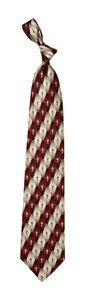 Silk Tie: Gradient Pattern Cross (Burgundy)