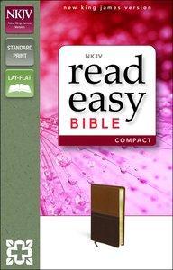 NKJV Readeasy Compact Bible Italian Duo-Tone Brown/Tan
