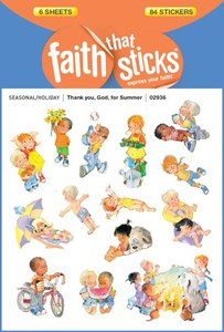 Thank You, God, For Summer (6 Sheets, 84 Stickers) (Stickers Faith That Sticks Series)