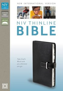NIV Thinline Buckle Closure Bible Black (Red Letter Edition)