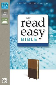NIV Readeasy Bible Brown Italian Duo-Tone Large Print (Red Letter Edition)