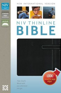 NIV Thinline Bible Italian Black/White Duo-Tone (Red Letter Edition)