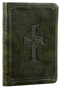 ESV Value Compact Bible Olive Celtic Cross Trutone (Black Letter Edition)