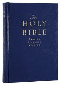 ESV Pew & Worship Large Print Bible Navy Blue (Black Letter Edition)