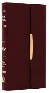 NKJV Checkbook Bible Snap Flap Burgundy