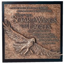 Eagle Moments of Faith Sculpture Plaque