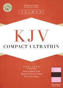 KJV Compact Ultrathin Bible Pink/Brown Leathertouch