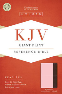 KJV Giant Print Reference Indexed Bible, Pink/Brown Leathertouch