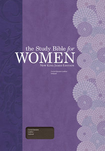 NKJV Study Bible For Women Cocoa Genuine Leather, Indexed