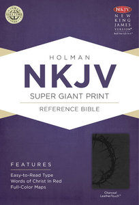 NKJV Super Giant Print Reference Indexed Bible Charcoal