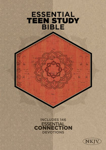 NKJV Essential Teen Study Bible Orange Cork Leathertouch