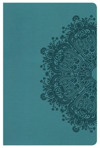 KJV Ultrathin Reference Indexed Bible Teal Leathertouch