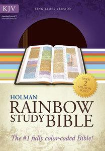 KJV Rainbow Study Bible Brown/Chestnut Leathertouch
