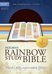 NIV Rainbow Study Bible Brown/Chestnut Leathertouch