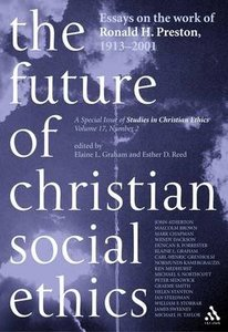 The Future of Christian Social Ethics