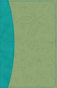 KJV Study Bible For Girls Willow/Turquoise Butterfly Design Duravella (Red Letter Edition)