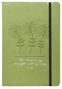 Journal: Strength & Song, Lime Green Flexcover With Elastic Closure