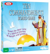 Board Game: Ten Commandments Bible Game (2-6 Players, Ages 10+)