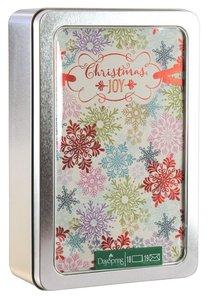 Christmas Tin Keepsake Boxed Cards: Josephine Kimberling Christmas Joy Snowflakes