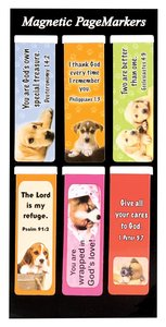 Magnetic Bookmarks Set of 6: Puppies #01