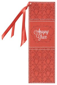 Bookmark Luxleather Tassel: Amazing Grace, Orange