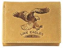 Mens Genuine Leather Wallet: Like Eagles Light Brown